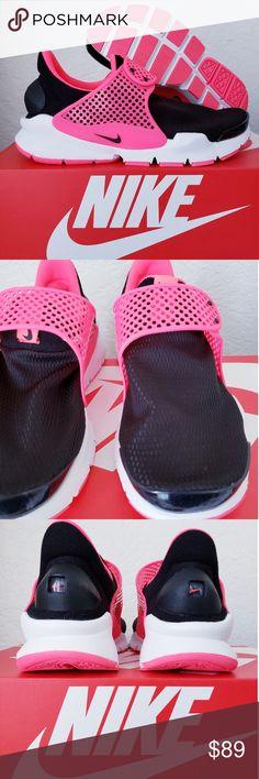 9511df7c294 New Nike Dart Sock Black Pink White Unisex 🎉New Nike 🎉 Size 6Y  7.5