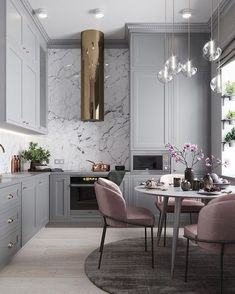 "948 Likes, 17 Comments - Scandinavian Colour + Design (@designstuff_group) on Instagram: ""// GLAM Slam @planaspb_com @denis_orehovich. Team DS. X #designstuff #kitchen #kitchendesign…"""