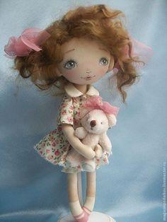 Купить Кукла Малышка Уля - бежевый, пыльная роза, кукла в подарок, кукла интерьерная