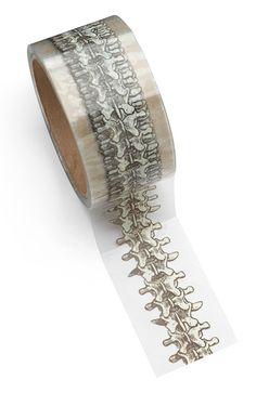 Sometimes you need to add a little to a package to make it your own. We don't mean spit - we mean special tape. And why not ramp up the wow-factor with tape that looks like a spinal column? Science Geek, Science Fun, Take My Money, Geek Out, Cool Stuff, Stuff To Buy, Gadgets, Geek Stuff, Engagement Rings