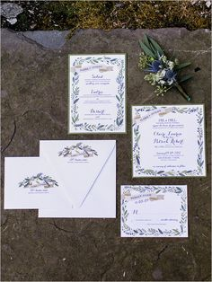 floral border | wedding stationery | invitation ideas | #weddingchicks