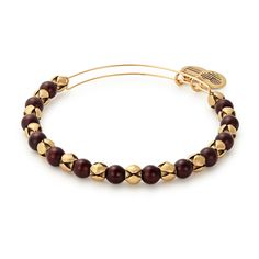 Mulberry Snowbell Beaded Bangle in Rafaelian Gold (Alex and Ani)