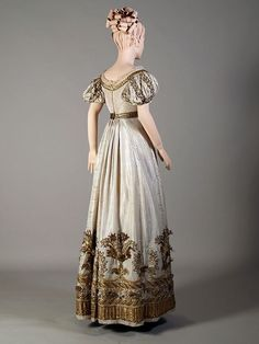 Court or evening dress ca. 1810-25