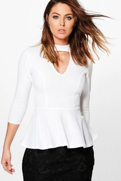 peplum top with choker - female wedding photographer clothes outfit ideas, what to wear female photographer Photographer Outfit, Female Photographers, Online Shopping Clothes, Latest Fashion Trends, Going Out, What To Wear, Lady, Choker, Peplum