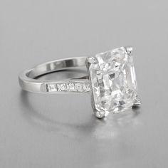 5.63 carat Emerald-cut diamond engagement ring
