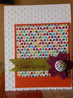 Cute card!!  Lots of different paper choices.  Michael's and Joann's sell everything you'll need for this.  You might be able to find supplies at Walmart.
