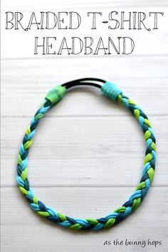 Make an easy and fun braided headband with t-shirts and a ponytail holder!