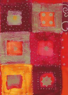 3PK Decopatch Tissue Paper- Gold, Orange, Purple - Patchwork Print #807  Details: 3 sheets of decoupage/paper mache/collage paper.