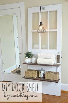 DIY Door Shelf - lizmarieblog.com