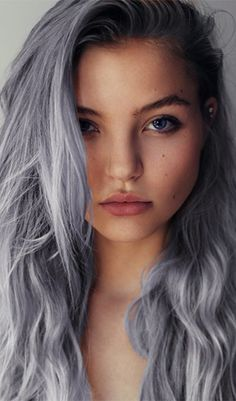 if I could make my hair look this healthy and this gray at the same time, I would do it in a heart beat DEFINITELY. <3