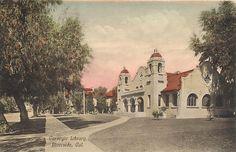 Riverside California CA Carnegie Library Handcolored CA 1910s Postcard | eBay