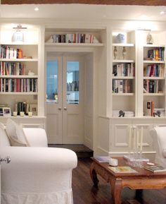 Painted Bookcases Around Doorway By Inglish Design