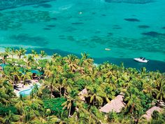 Natural beauty! Aerial view over Tokoriki Island Resort, Fiji  www.islandesacapes.com.au