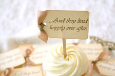 Wedding Cupcake Toppers / Food Picks  Happily door seasonaldelights, $17.50