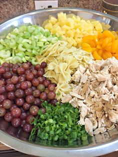 A Chicken Pasta Salad to Die For Apple Cranberry Spinach Salad with Pecans, Avocados (and Balsamic Vinaigrette Dressing) Chicken Pasta Salad Recipes, Best Pasta Salad, Healthy Pasta Salad, Summer Pasta Salad, Pasts Salad Recipes, Cold Pasta Salads, Cold Pasta Recipes, Crab Pasta Salad, Cold Pasta Dishes