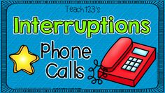 Interruptions, blurts out, and other distractions #Teach132