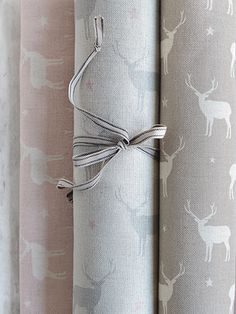 """Stag All Star ~ Pink Icing, Duck Egg Truffle """"Love the Truffle"""" Kitchen Orangery, Woodland Nursery Girl, Pink Icing, Curtain Fabric, Curtain Material, Textiles, Fashion Wall Art, Gorgeous Fabrics, Love Wallpaper"""
