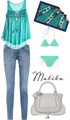 My look in Malibu, created by glonarablog on Polyvore