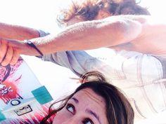 #Surfskate con #Carver Por lo pelos!!