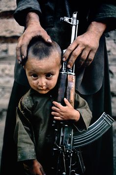 NO MORE WAR! Isaiah 2:4 ➡ Children of War - Steve McCurry (Kabul, Afghanistan)... is this what we want for our children?. Photography