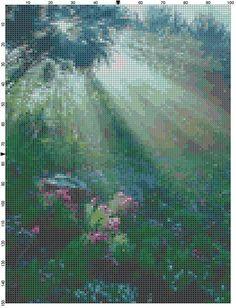 Cross Stitch Pattern Glorious Sunshine PDF by theelegantstitchery