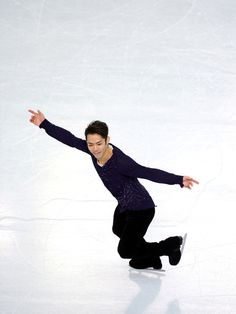 Daisuke Takahashi of Japan performs during the Figure Skating Men's Free Skating on day seven of the Sochi 2014 Winter Olympics at Iceberg S...