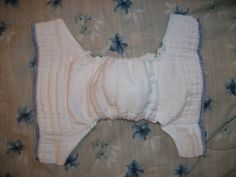 Simple Diaper-Sewing Tutorials: NON-Serged Prefitted (from a prefold!)