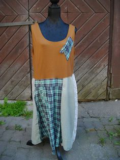 Free shipping/Art Dress/Tunic/Made of Recycled by Endladesign, $75.00
