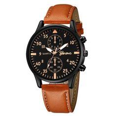 4b0a8aa2650 Relógio Slim com Pulseira de Couro Ecológico  moda  modamasculina   modasocial  acessórios