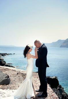 Gorgeous Santorini wedding