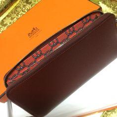 HERMES wallet silk in rougeH