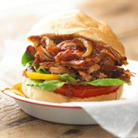 Pulled Pork with Root Beer Sauce - sounds interesting and looks amazing!