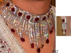Moroccan Royal Jewels Laila Salma's Ruby and Diamond Tassel Set