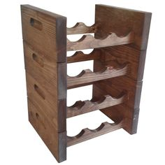 Stackable wine rack for 3 bottles Stackable Wine Racks, Bottle Rack, Shoe Rack, Bottles, Bottle, Wine Rack, Shoe Closet, Shoe Racks