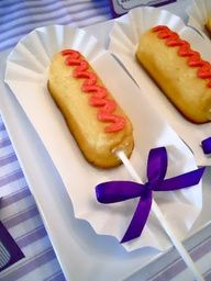 circus carnival party Twinkies on a stick!