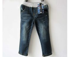 The new spring children cotton washing jeans fashion leisure style on sale free shipping