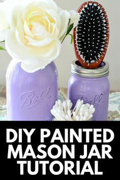 If you're looking for cheap and easy ways to spruce up your decor, check out our tutorial for DIY Painted Mason Jars! Get the full tutorial at MomDot.com! Mason Jar Crafts, Mason Jar Diy, Painted Mason Jars, Decorating On A Budget, Diy Painting, Craft Supplies, Birthday Gifts, Creative, Easy