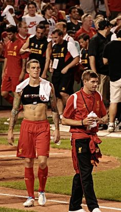 ☼ #LFC Agger & Gerrard during pre-season tour