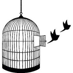 Bird cage tattoo.