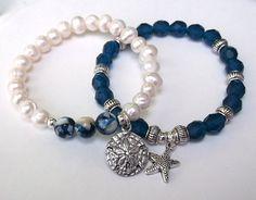 Ocean Bracelet Nature Bracelet Blue Bracelet por BlueStoneRiver