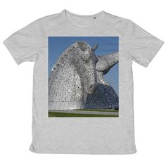 the Kelpies 1121, the Helix , Falkirk , Scotland Mens Retail T-Shirt – Photogold Scottish gifts Clydesdale Horses, Scottish Gifts, Fashion Face Mask, Scotland, Photo Gifts, Crew Neck, Short Sleeves, Retail, Prints