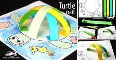 Návod na roztomilou vymalovávanou 3D želvičku z papíru