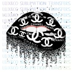 Chanel Wall Art, Chanel Decor, Chanel Wallpapers, Pretty Wallpapers, Chanel Background, Dripping Lips, Lip Wallpaper, Pinturas Disney, Black And White Aesthetic