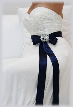 Navy Blue bridal sash, crystal sash, ribbon sash, rhinestone belt, wedding accessory, bridal belt, bridesmaid belt