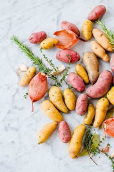 Beautiful Fingerling Potatoes /