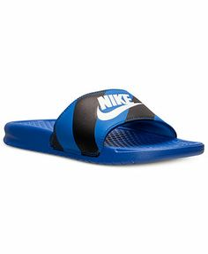 Nike Mens Benassi JDI Print Slide Sandals from Finish Line