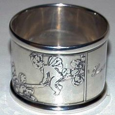 tiffany sterling silver napkin rings