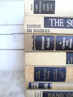 Tan & Black  Books Instant Library Collection Vintage Decorative Book Bundle Photography Props Brown Father's Day gift for Dad.  via Etsy.