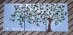 #treepainting #multicanvas #painting #art #ECMC see my facebook page #naptimeDesignsJD