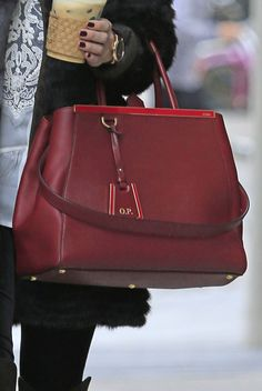 Olivia Palermo carrying her Fendi 2Jours bag. Note her initials on the tag